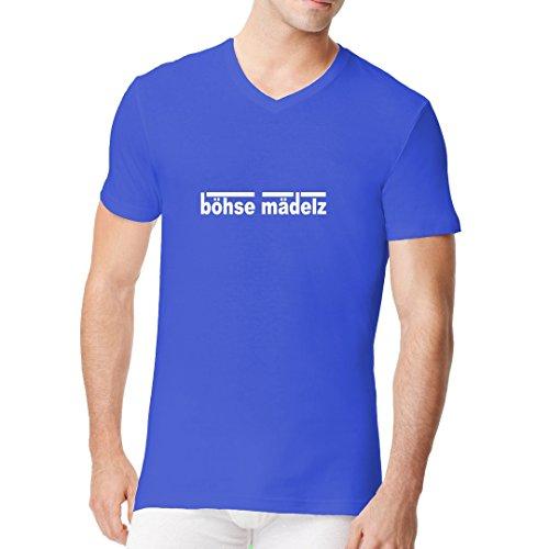 Fun Männer V-Neck Shirt - Böhse Mädelz by Im-Shirt Royal
