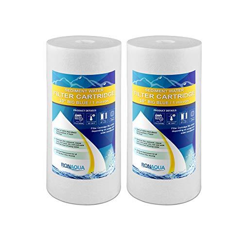 2pp-10b, 1micron Big ganze Haus Wasser Sediment Filter, 25,4cm, Blau, 2er Pack -