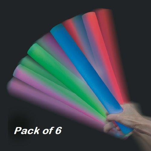 6palos de goma espuma con luz