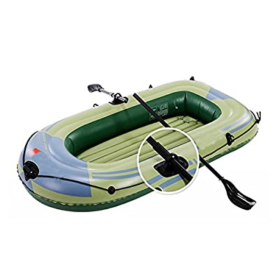 Inflatable Kayak ,2/3/4 person Canoe Kayak ,Fishing Kayak,rubber boat ,Folding Kayak ,Padded Seat & Paddle-- Different Sets To Choose From(Full set equipped) by YMMONLIA