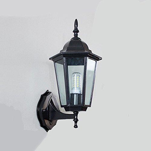 GBYZHMH Applique murale Lampe Murale à LED étanche extérieur Balcon rétro couloir escalier extérieur Allée Éclairage de jardin Lampe Murale ( Couleur : UN-3W )