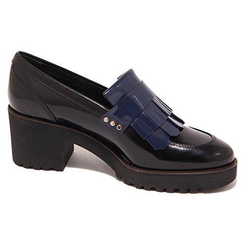 5896O mocassino HOGAN ROUTE nero/blu scarpa donna shoe woman Nero/Blu
