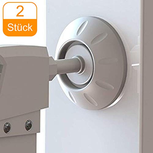 Sicherheits Wandschutz von CalMyotis, Treppengitter ohne bohren & Werkzeug befestigen, Druck Tür Schützt Treppen, Türen, Tore und Wände (Wandschutz 2 Stück)