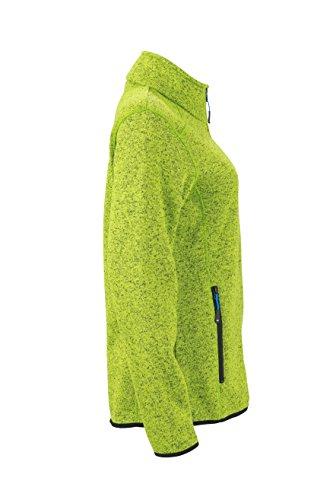 James & Nicholson Damen Jacke Jacke Knitted Fleece Jacket grün (Kiwi-Melange/Royal) Small - 4