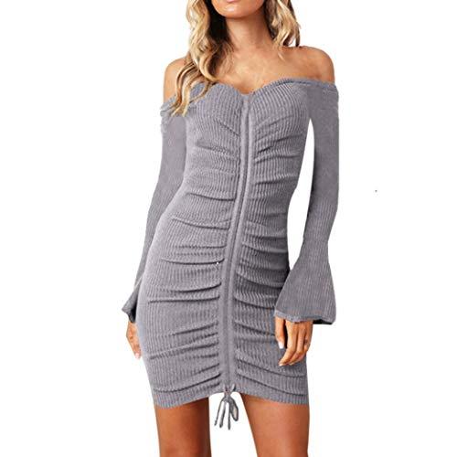 Elecenty Bodycon Cocktailkleid Damen,Frauen Reizvolle Schulterfrei Abendkleid Hochzeitskleider...