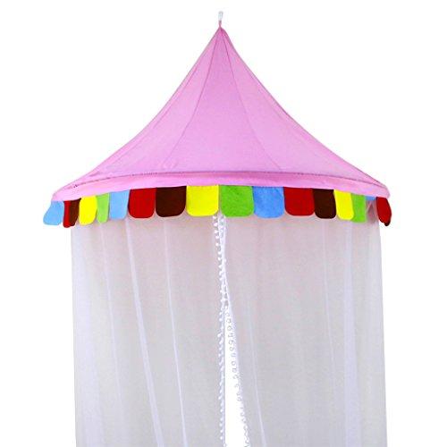 Unbekannt Mädchen Prinzessin Castle Fairy Netting Outdoor Kinder Spielen - M - Pink - Prinzessin Weiß Metall Baldachin
