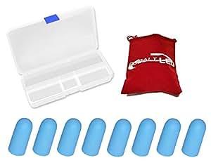 """Cobalt®: Earplugs–Ammortizza rumore e suono, Ear Plug Riduzione del rumore (in silicone """"easy-ear-fit) Ø 1.1 cm Blue Baby"""
