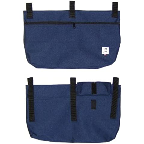 Handi Pockets 2b7rb Storage Accessory Walker, Cordura, Royal Blue with Zipper and Flap