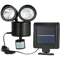 LED Solar Außenbeleuchtung Außenleuchte Gartenlampe mit Bewegungsmelder 22LEDs