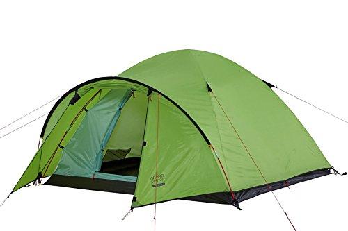 Grand Canyon Topeka 3 - großzügiges Kuppel-/ Igluzelt, 3 Personen, für Trekking, Camping, Outdoor, Festival, mit Vorbau für extra Stauraum, grün, 602010