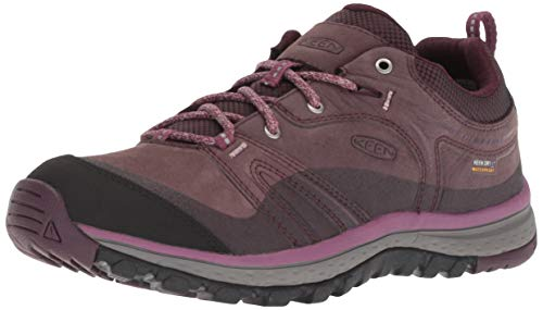 KEEN Womens Terradora Leather WP, 10,5US Women/41 EU, Peppercorn/Wine Tasting (Schuhe Damen Wp Keen)