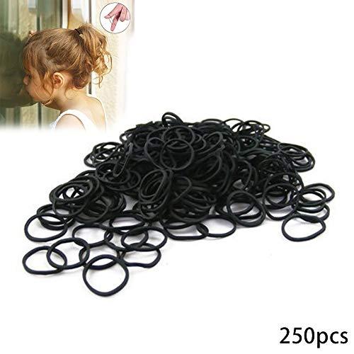 Xiton fascia capelli mini hairband hairband di base piccolo capelli elastici elastico fasce trecciatrici semplici per dreads cornrows intrecciatura - confezione di massa di 250