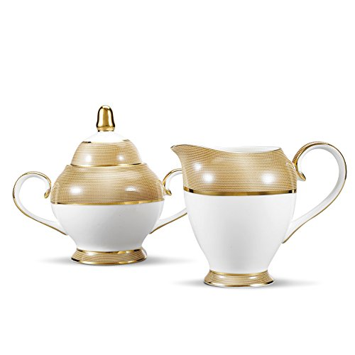 Panbado Bone China–Juego de marfil Color Blanco Porcelana China cerámica Servir Juego...
