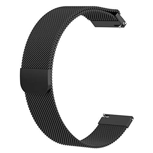 Diuspeed - Cinturino di ricambio magnetico, maglia Milano, 22 mm, per...