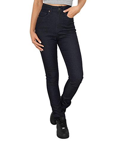 Urban Classics Ladies High Waist Denim Skinny Pants Jeans donna blu scuro W29L32
