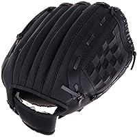 F Fityle Premium Guante de Béisbol Accesorio de Protección de Mano Soporte Deportivo - Negro S