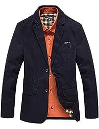 HX fashion Giacca da Uomo Slim Fit Elegante Blazer Blazer per Taglie Comode  Il Tempo Libero Giacca A Due Bottoni… 9a8aa5edc6b