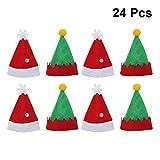 Amosfun Mini Weihnachtsmannmütze Lollipop Elf Hut Deko Lollypop Weihnachtsmann Hüte Finger Cap...