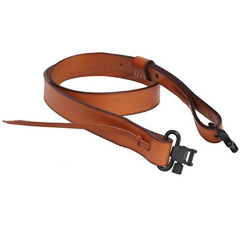 Tourbon Jagd Deluxe Vintage Echtleder im europäischen Stil Shotgun Gewehr Gun Sling-Tan (Shotgun)