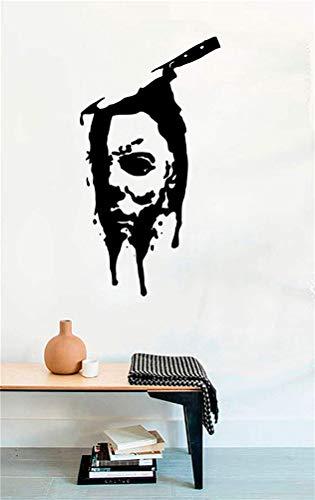 wandaufkleber schlafzimmer spruch Messer Gesicht Michael Myers tot Horror Vinyl Wandtattoos Halloween Dekor Aufkleber Vinyl Wandbild