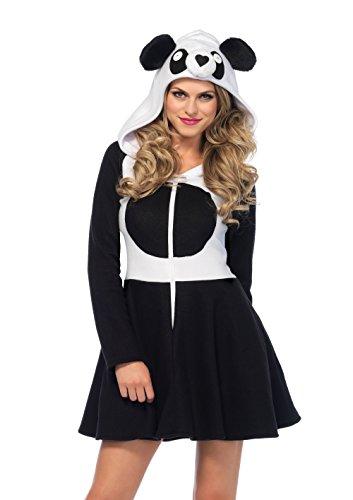 Leg Avenue 85576 Cozy Panda, Damen Karneval Kostüm Fasching, S, schwarz/weiß