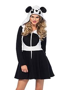 Leg Avenue- Mujer, Color negro blanco, Small (EUR34-36) (85576)