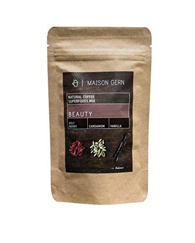 Superfood Kaffee | Beauty | Bio Kaffee-Mischung mit Goji Beeren, Lucuma Pulver und Vanille für...
