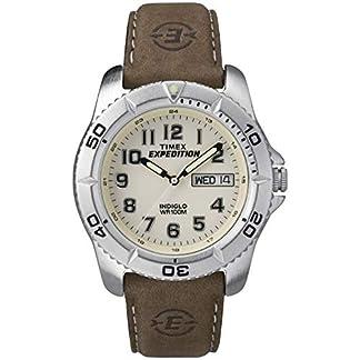 Timex Expedition T46681 – Reloj de Cuarzo para Hombres, Correa de Piel, Color marrón