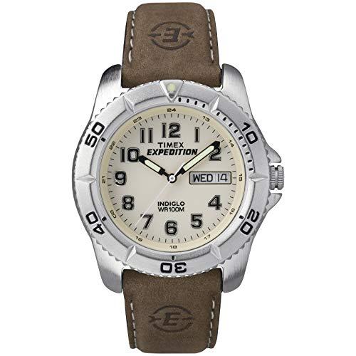Timex Herren-Armbanduhr Analog Leder Braun T46681D7 (Timex Uhr Reparatur)