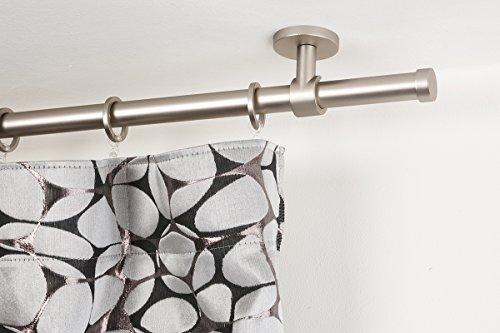Incasa bastone per tende Ø 20 mm, l. 140 cm. in acciaio satinato – completo
