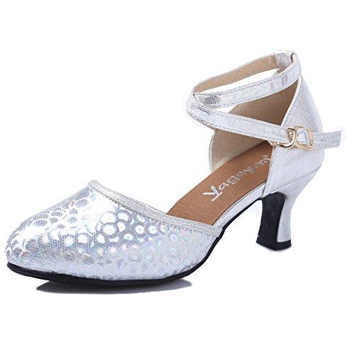 DSAAA High-Heel sandali paillettes piazza moderna scarpe da ballo estate le scarpe Rosso