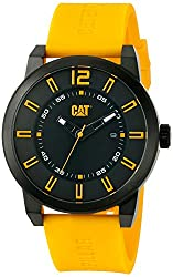 CAT WATCHES Men's 'Hardware' Quartz Stainless Steel and Silicone Automatic, Color:Yellow (Model: NK16127127)