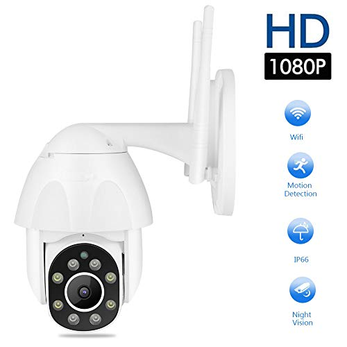 Sonew Überwachungskameras, 2,5-Zoll-IR-Dome-Kamera 1080p WiFi HD IR, Ptz Dual Light wasserdichte IP66-Intercom-Überwachungskamera für Onvi(EU)