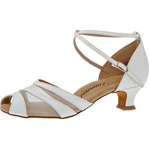 Diamant - Damen Tanzschuhe/Hochzeitsschuhe 102-011-033 Leder (Weiß, UK 5.5)