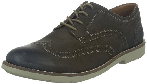 Clarks Raspin Brogue, Chaussures de ville homme Gris (Taupe Suede)