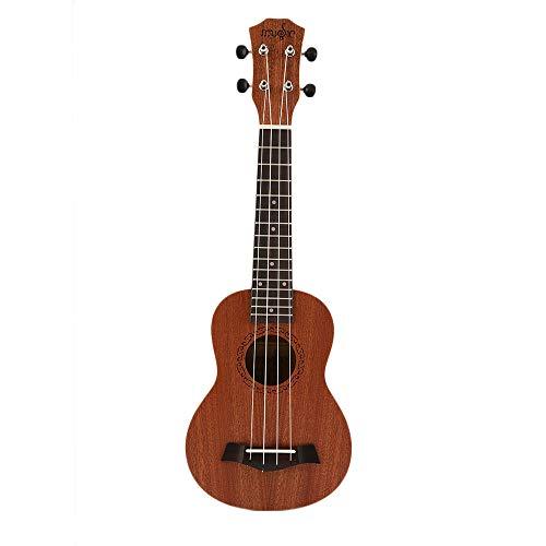 Yaoaomitn Ukulele Soprano Marrone di Alta qualità con Materiale Musicale in Legno da 21 Pollici