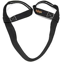 safeyo correa para transportar esterillas de yoga (Sling–Durable–trabillas de algodón–66pulgadas ajustable para todos los tamaños, mujer, negro