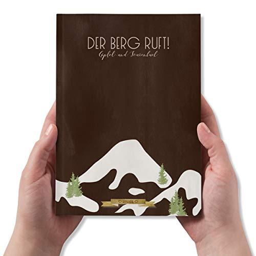Gipfelbuch zum Ausfüllen, Einkleben und Ankreuzen, Tourenbuch für Wanderabenteuer, Reisetagebuch, DIN A5, 104 Seiten - Kollektion: Reiseliebe