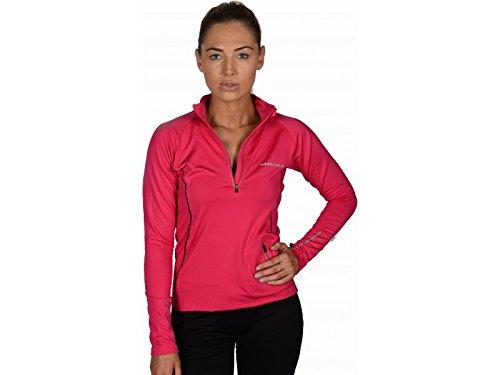 More Mile Vancouver Frauen Thermal Hallo-Viz Laufen / Fitnessstudio / Sport Top Rosa (Kürzer Stretch-körper)