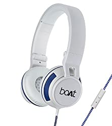boAt BassHeads 600 On-Ear Headphones with Mic (White)