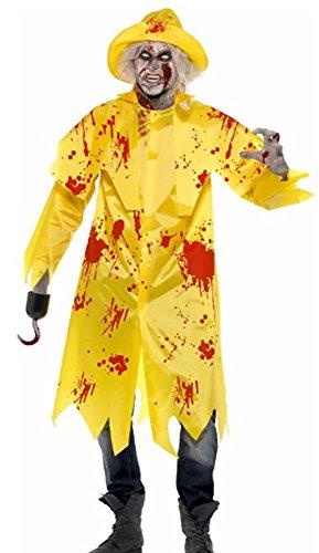 Preisvergleich Produktbild erdbeerloft - Unisex - Erwachsene Kostüm Zombie Seemann mit Südwester, L, Gelb