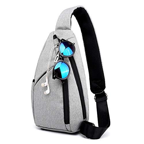 PPOUTDD Sommer Und Herbst Neue Große Kapazität Brusttasche Herren High-End-Stoff Umhängetasche, Um Die Brusttasche Zu Erhöhen
