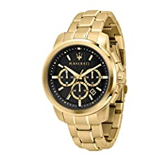 Idea Regalo - Orologio da uomo, Collezione Successo, cronografo, in acciaio e PVD oro giallo - R8873621013