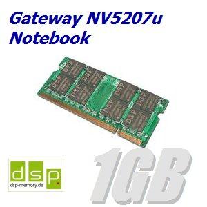 DSP Memory 1GB Speicher/RAM für Gateway NV5207u Notebook