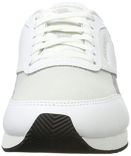 Reebok Damen Royal Classic Jogger 2 Sneakers Elfenbein (White / Skull Grey / Flint Grey / Bright Emerald / Black)