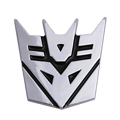 BestAuto® Auto Dekoration Transformers Aufkleber Logo Metall 3D Decepticon Emblem Badge Aufkleber Truck Auto Styling Car Styling Covers (Logo Decepticon)