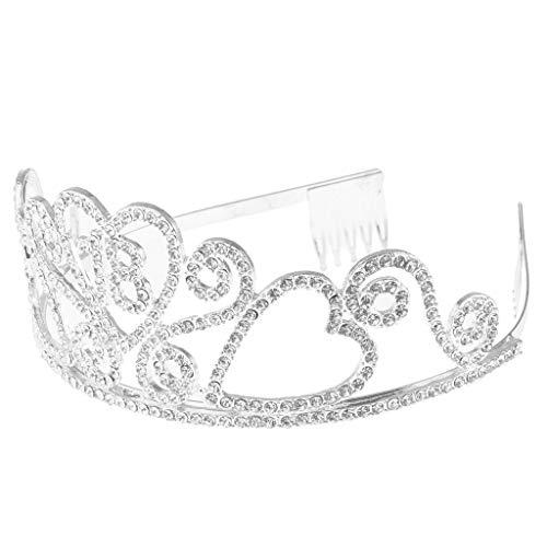 FLAMEER Damen Krone Tiara Haarreif Kopfbedeckung Haarschmuck für Geburtstag Jahrestag und Bankett - Alter 18