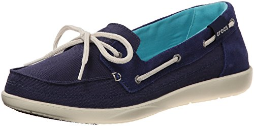 Chaussures Crocs Walu Boat Shoe W Boat Nautical Navy/Stucco