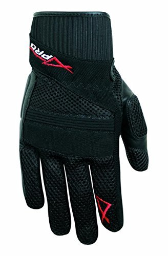 A-Pro Hi Quality Leather Textile Summer Gloves Motorcycle Motorbike Scooter Black XL