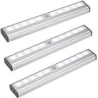 Plater Rechargeable Motion Sensor Light Magnetic Strip Stick-on Anywhere Closet Cabinet LED Night Light Wall Light - White
